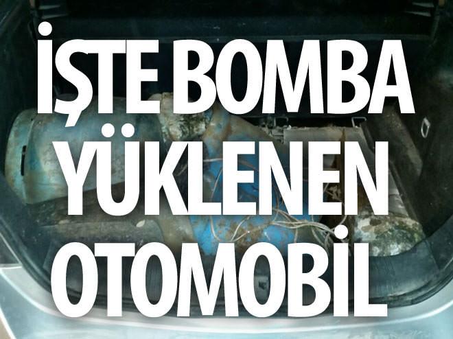 İŞTE BOMBA YÜKLENEN OTOMOBİL