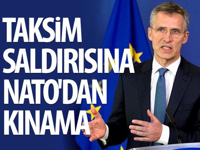 TAKSİM'DEKİ SALDIRIYA NATO'DAN KINAMA