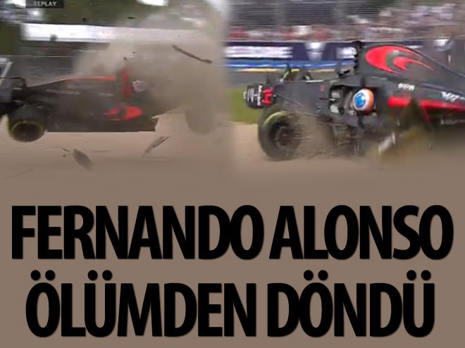 F1 PİLOTU FERNANDO ALONSO'DAN FECİ KAZA
