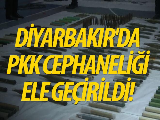 DİYARBAKIR'DA PKK CEPHANELİĞİ ELE GEÇİRİLDİ