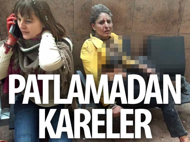 BRÜKSEL HAVALİMANI'NDA PATLAMADAN KARELER