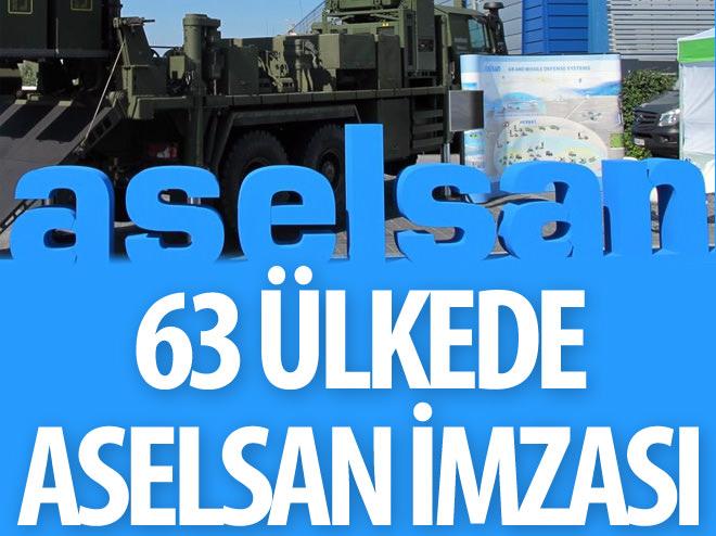 63 ÜLKENİN GÜVENLİĞİNDE ASELSAN İMZASI