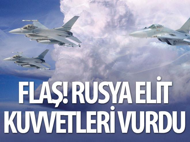RUSYA ESAD'IN ELİT KUVVETLERİNİ VURDU