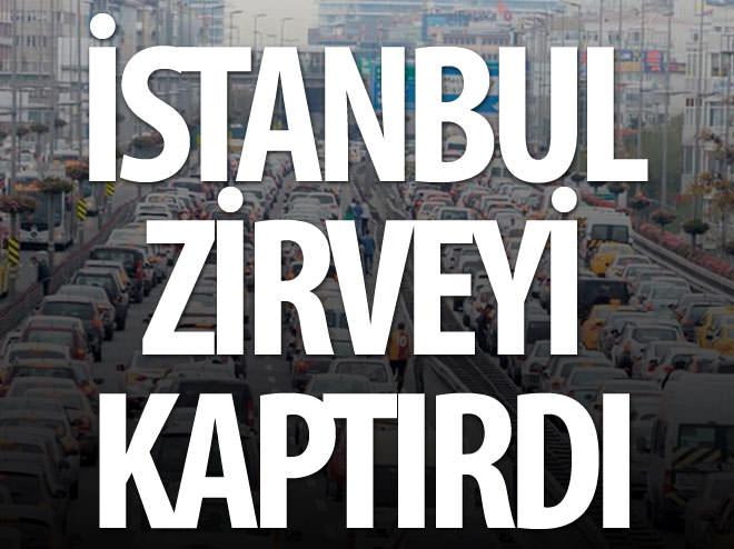 İ̇STANBUL 'TRAFİK' REKORUNU KAPTIRDI