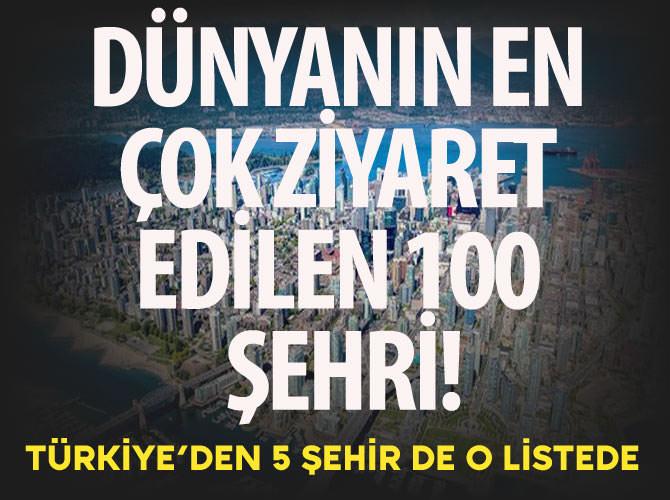 DÜNYANIN EN ÇOK ZİYARET EDİLEN 100 ŞEHRİ!