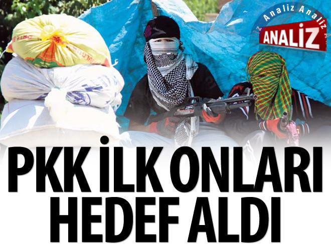 PKK'NIN İLK HEDEF AŞİRETLER OLDU