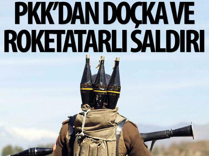 PKK'LI TERÖRİSTLERDEN ROKETATARLI SALDIRI