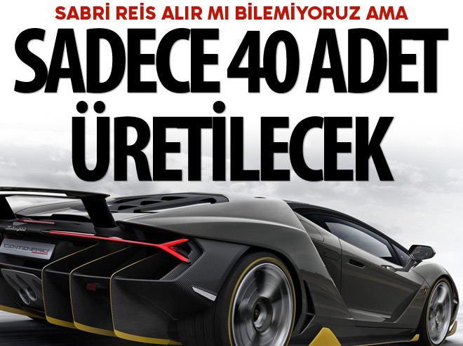 DÜNYADA SADECE 40 ŞANSLI GARAJA GİRECEK!