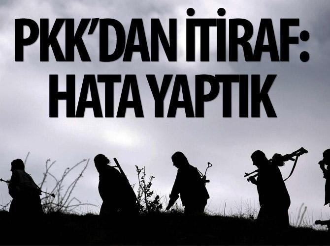 MURAT KARAYILAN'DAN İTİRAF: HATA YAPTIK!