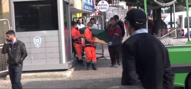 POLİS MERKEZİNDE CİNNET GETİRDİ
