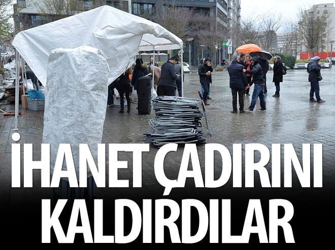 PKK'NIN BRÜKSEL'DEKİ ÇADIRI KALDIRILDI