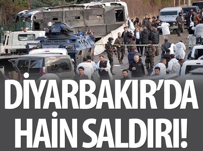 DİYARBAKIR'DA POLİSE BOMBALI SALDIRI