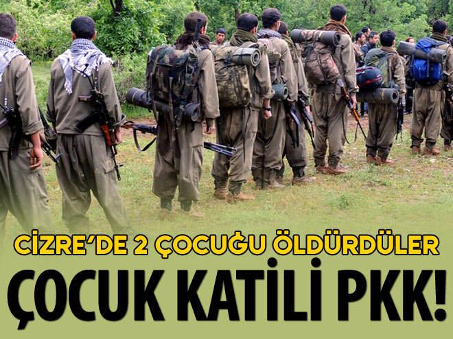 PKK, CİZRE'DE İKİ ÇOCUĞU ÖLDÜRDÜ