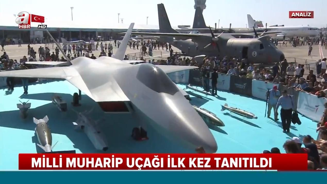 Türkiye'nin 5. nesil yerli ve milli muharip uçağı ilk kez TEKNOFEST'te görücüye çıktı |Video