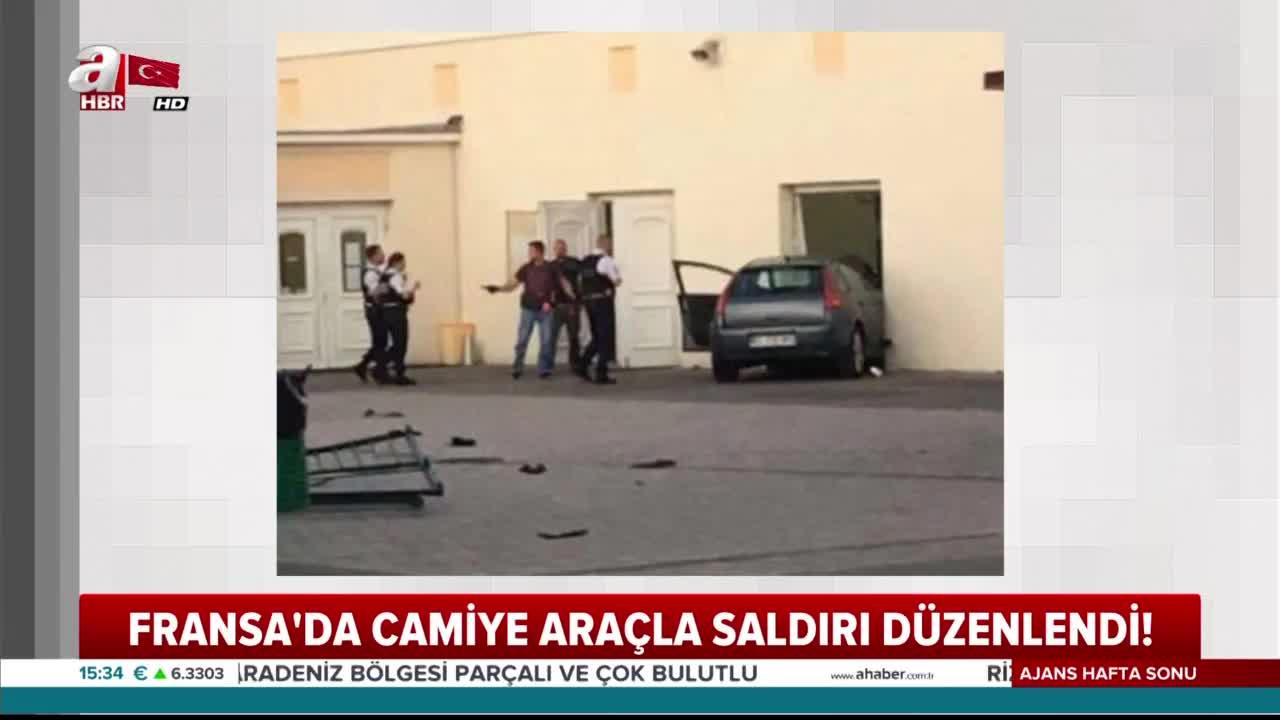 Fransa'da camiye araçla saldırı düzenlendi |Video
