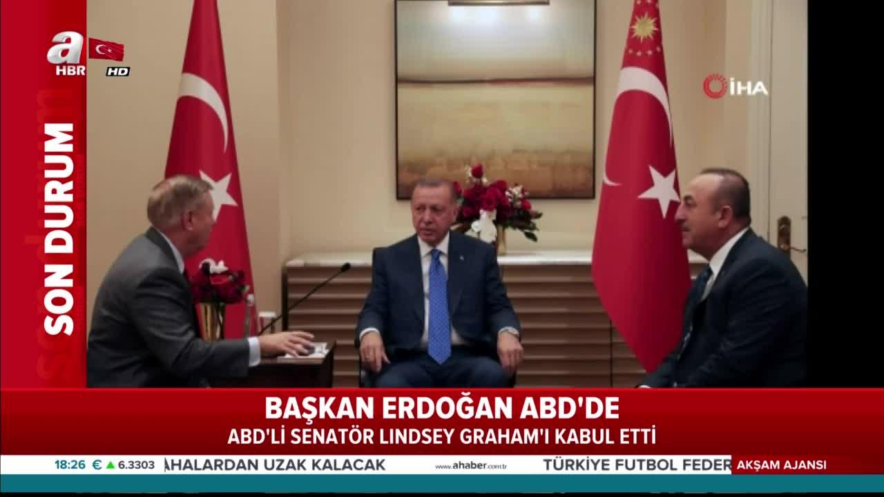 Son dakika: Başkan Erdoğan ABD Senatörü Graham'ı kabul etti
