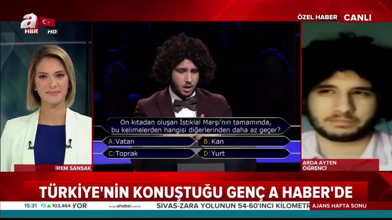 Türkiye'nin konuştuğu Arda Ayten A Haber'de… Kazandığı ödül ile ne yapacak? |Video