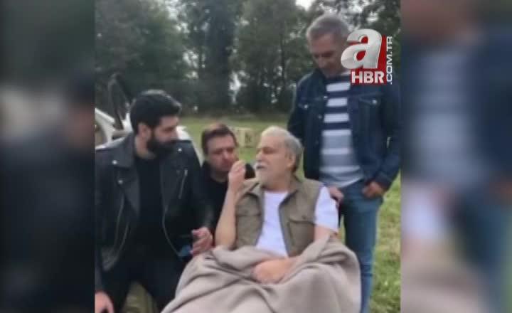 Sağlığına kavuşan Mehmet Ali Erbil setlere döndü! İşte ilk görüntüler |Video