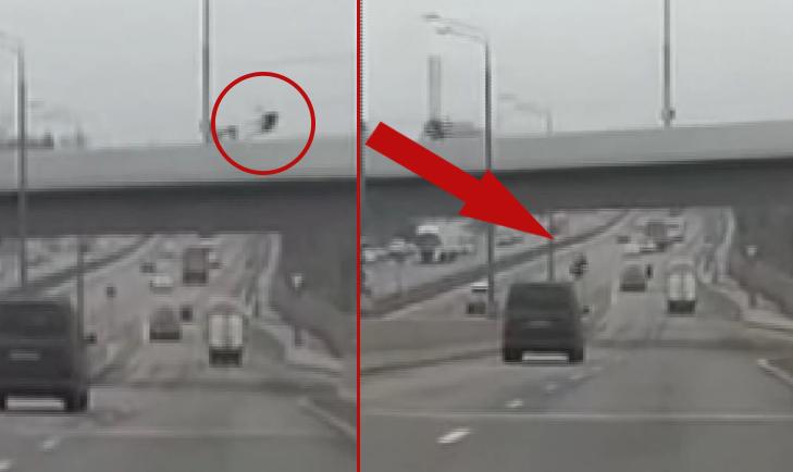 Motosiklet sürücüsünün feci sonu! Köprüden otoyola çakıldı