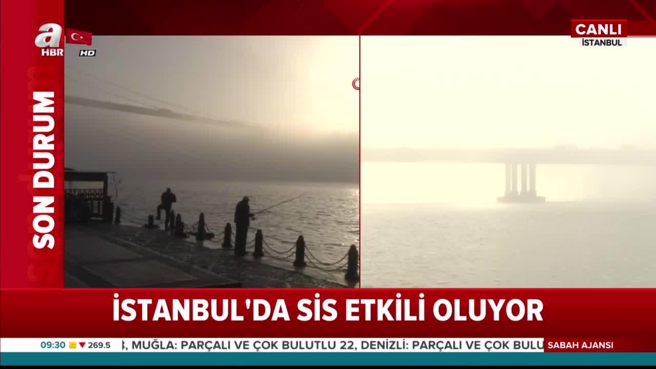 İstanbul güne böyle başladı! Sis boğazı kapattı
