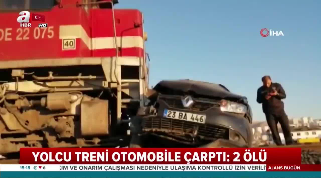 Elazığ'da feci kaza! Yolcu treni otomobile çarptı: 2 ölü