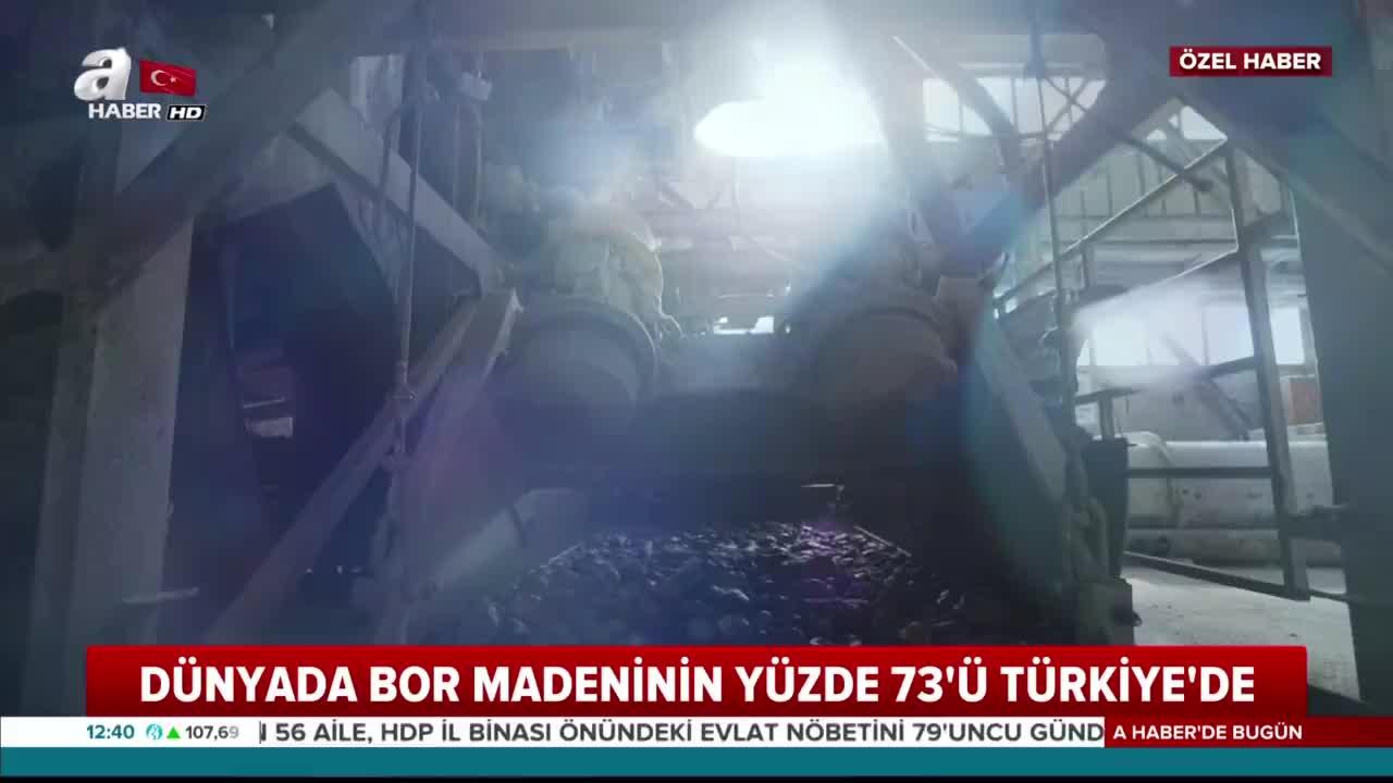Dünyada bor madeninin yüzde 73'ü Türkiye'de