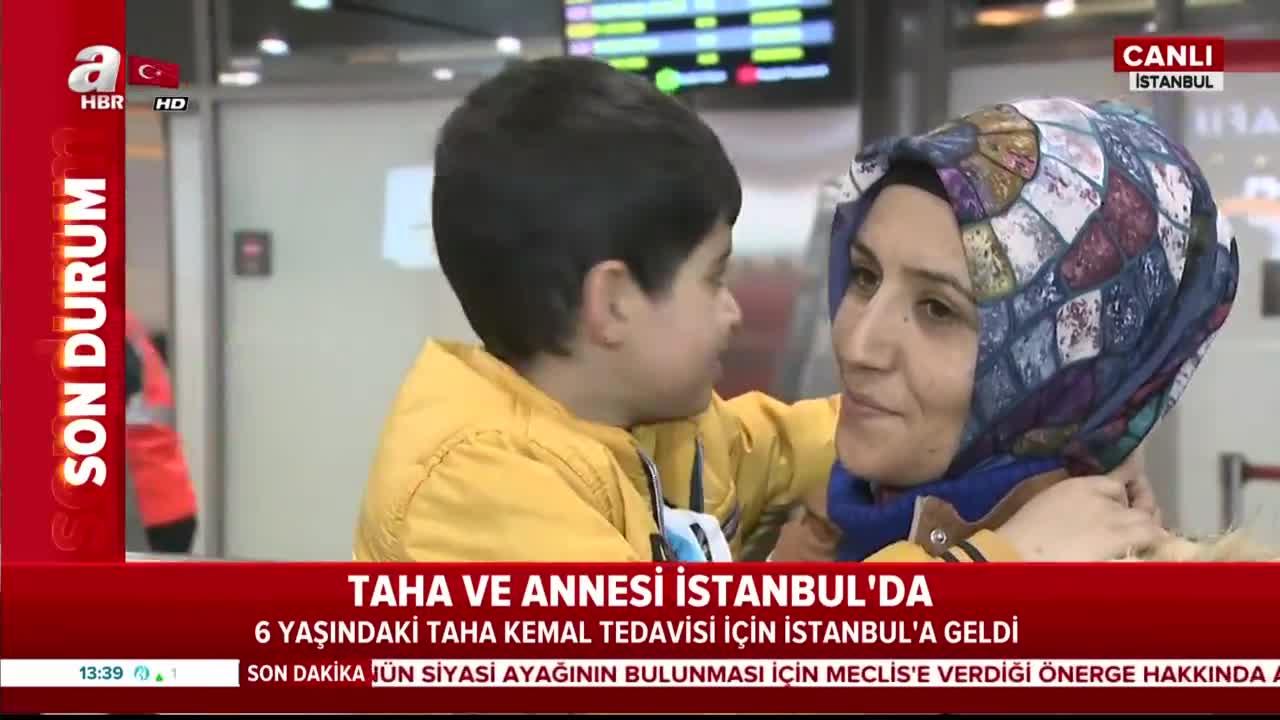 Taha Kemal ve ailesi tedavi için İstanbul'a geldi