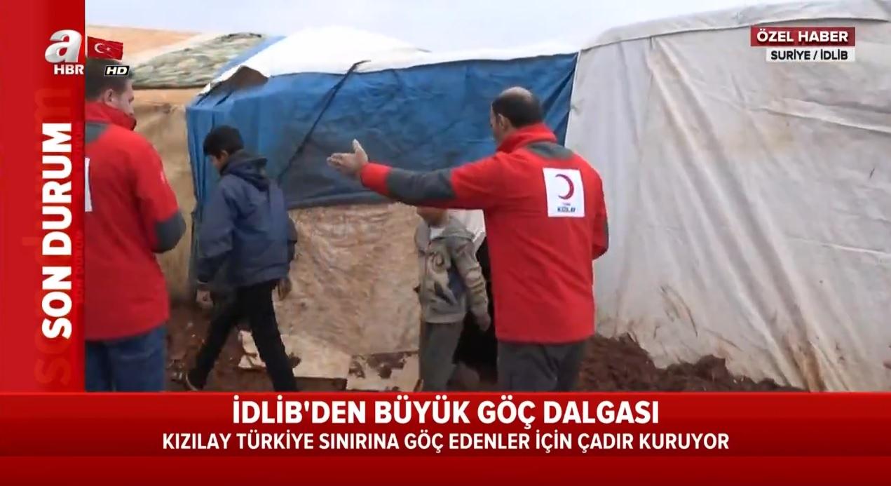 Kızılay İdlib'teki trajedi için harekete geçti! Çadırlar kuruluyor |Video