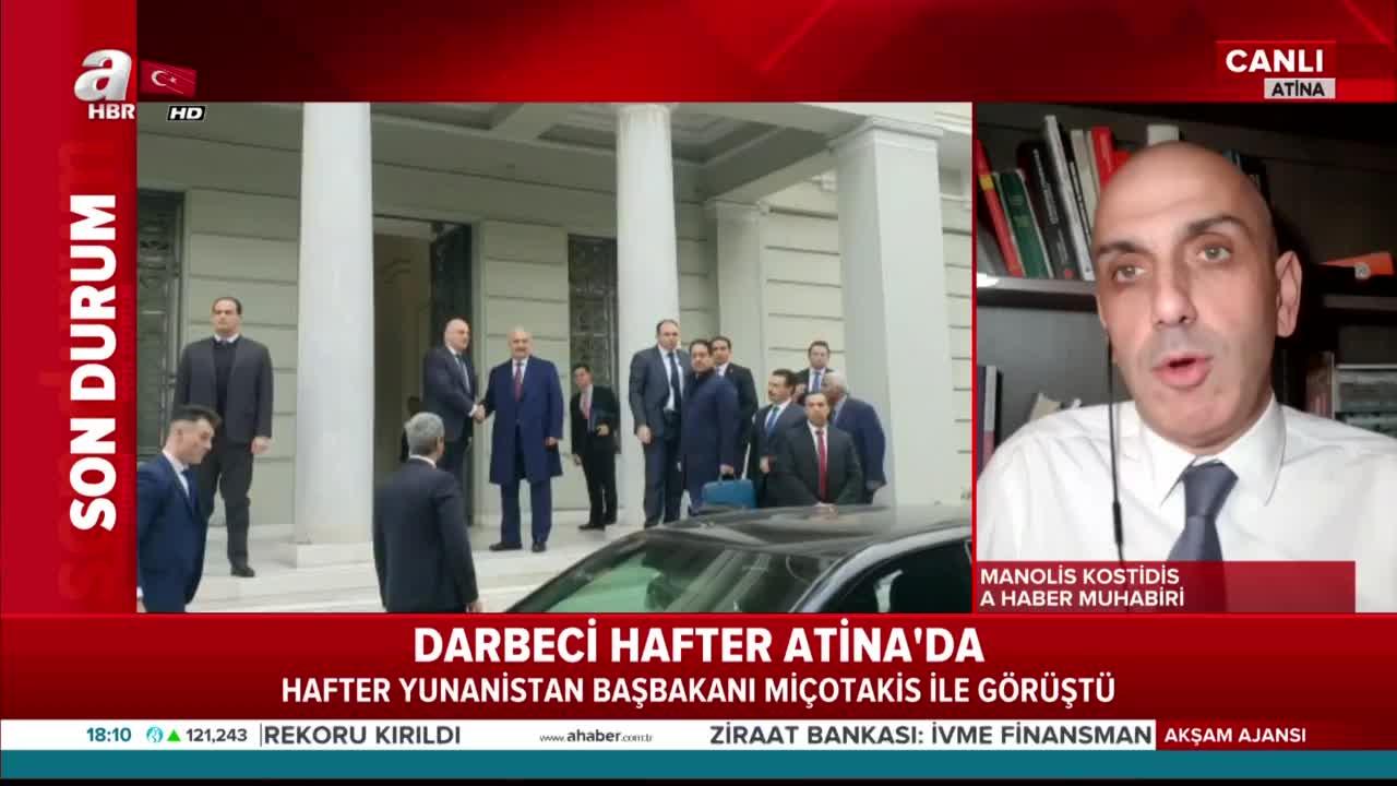 Son dakika haberi: Darbeci Hafter Yunanistan'a sığındı! Dikkat çeken ziyaret