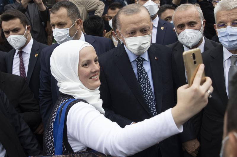 Başkan Erdoğan'a Bosna Hersek'te sevgi seli