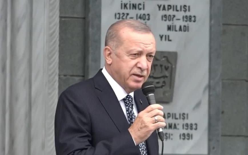 Son dakika: Başkan Erdoğan Rizede! Güneysulu Alim Osman Yılmazın cenaze namazına katıldı