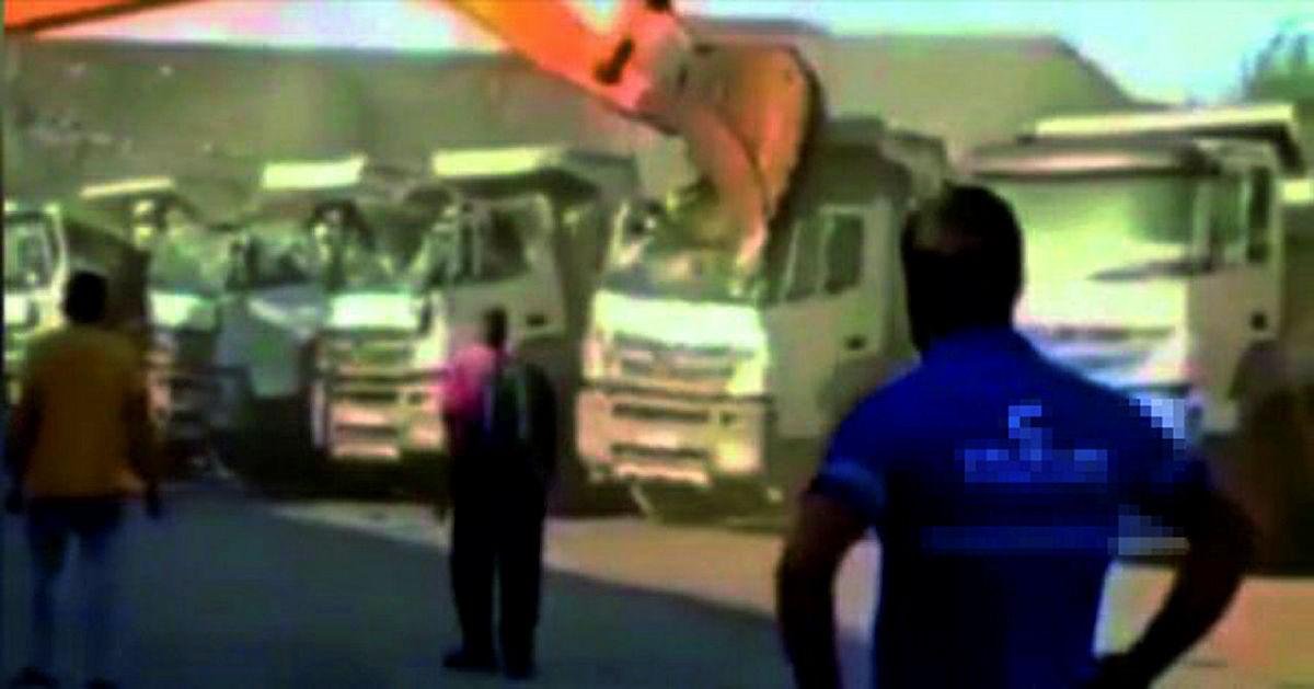 Beş kamyonu hurdaya çevirdi! Firma sahibinden akıllara durgunluk veren açıklama
