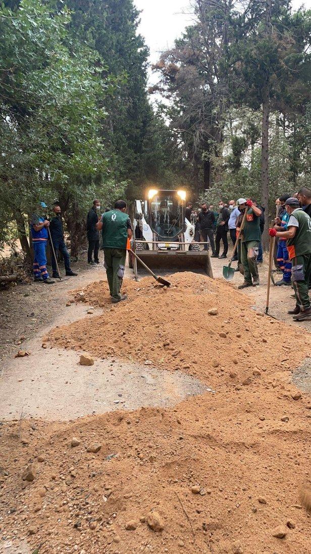 CHP yandaşı Sözcü ve Cumhuriyetten Validebağ Korusu üzerinden algı operasyonu! Belediye çalışmasını baskın diye duyurdular
