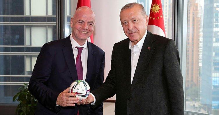 Başkan Erdoğan, FIFA Başkanı'nı kabul etti