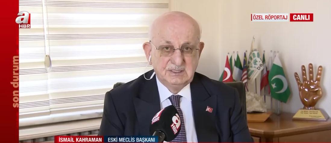 Eski TBMM Başkanı İsmail Kahramandan A Haberde yeni anayasa açıklaması: İlk 4 maddeye dokunmak mümkün değildir