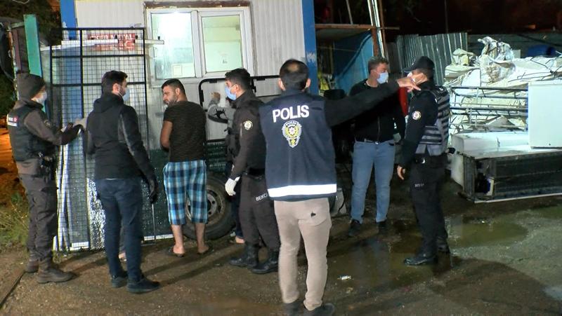 Sancaktepede ülkeye kaçak yollarla giren yabancılar gözaltında