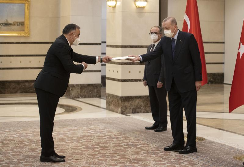 Azerbaycanın Ankara Büyükelçisi Mammadov, Başkan Erdoğana güven mektubu sundu
