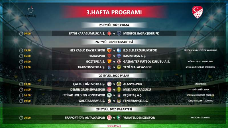 Süper Lig'de ilk 4 haftanın programı belli oldu! Galatasaray, Fenerbahçe, Beşiktaş ve Trabzonspor'un maçları ne zaman?