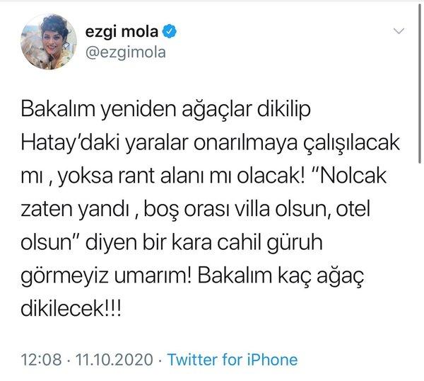 Ezgi Mola'nın Hatay tweeti tepki topladı! Muhalif medyanın yalanından etkilenince…