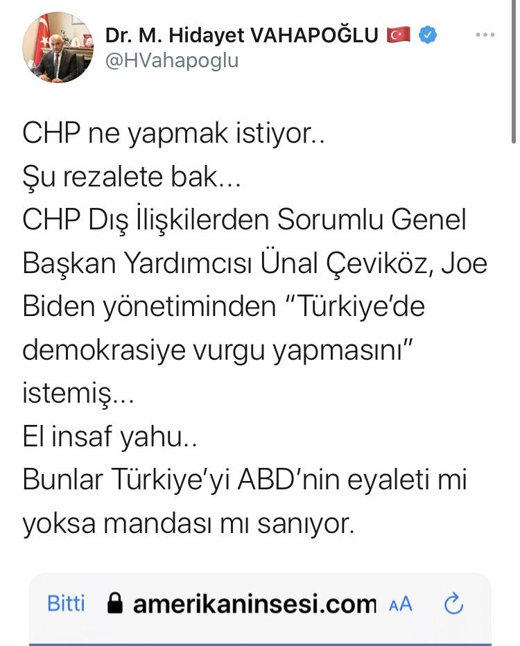 CHP'li Ünal Çeviköz'den Biden'a skandal çağrı! S-400 ve demokrasi...