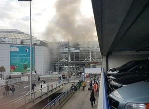 Brüksel Havalimanındaki patlamadan kareler