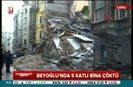 İstanbulda bina çöktü