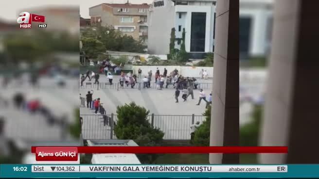 İstanbul Adalet Sarayı önündeki silahlı kavganın görüntüleri