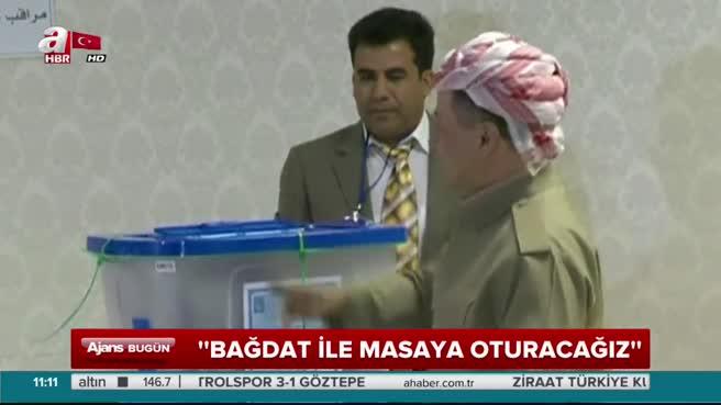 Mesud Barzani: Bağdat ile masaya oturacağız