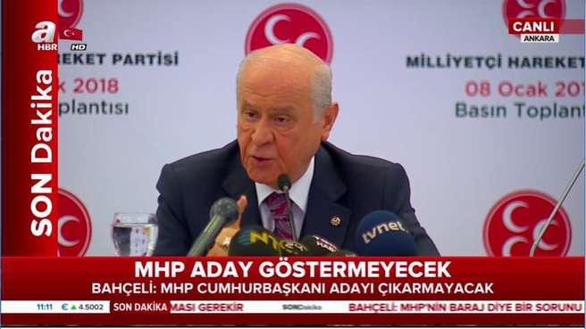 MHP lideri Bahçeli: MHP, Cumhurbaşkanı adayı göstermeyecek