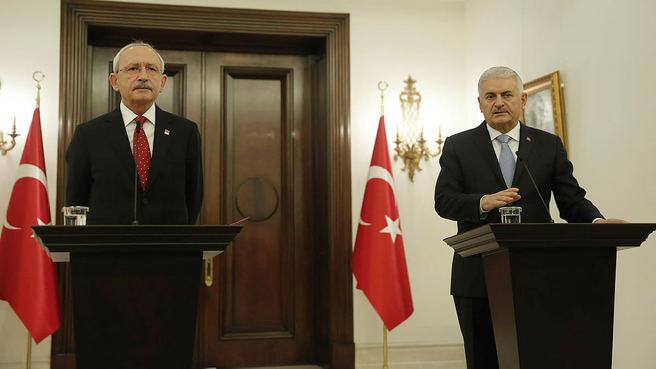 Başbakan Yıldırım ve Kemal Kılıçdaroğlu görüşmesinde verilen mesajlar