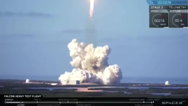 Dünya bu anı bekliyordu! Falcon Heavy fırlatıldı!