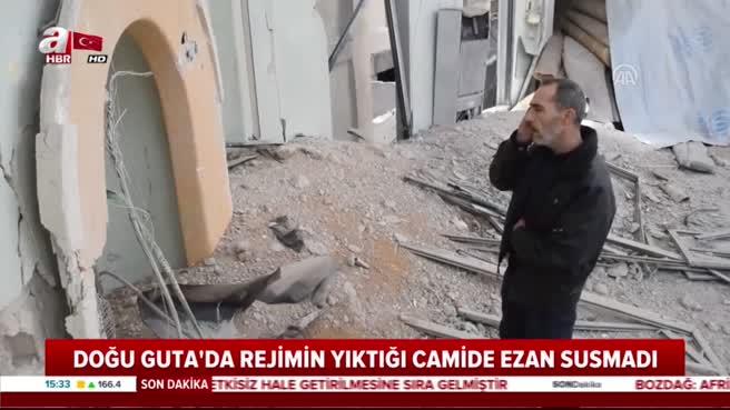 Esad rejiminin yıktığı camide ezan sesi susmadı
